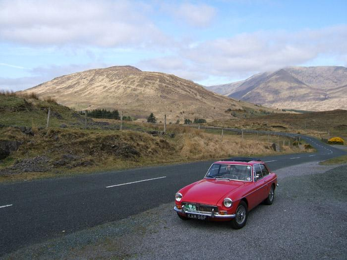 MGB GT 'Kamilla' on the MGOC trip to Westport, Co Mayo Ireland May 2006