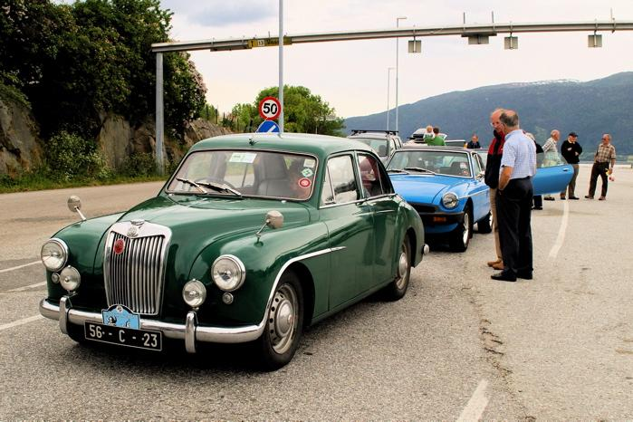 MG Magnette 1955 Awaits the ferry
