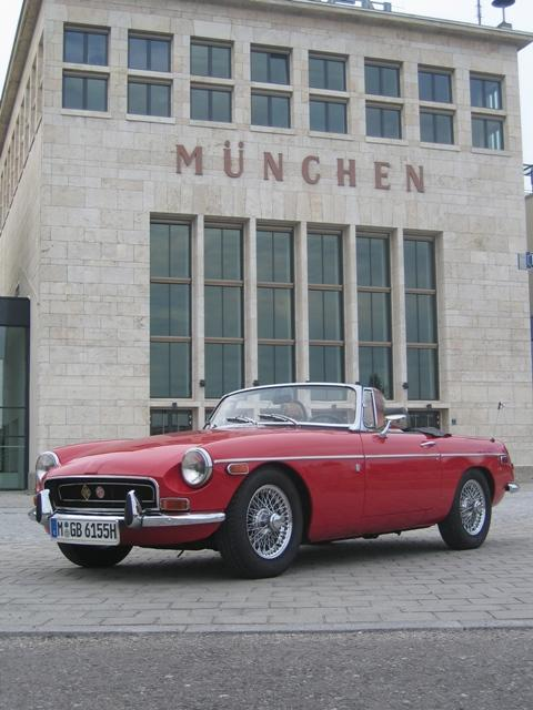 My beautiful MGB in Munich