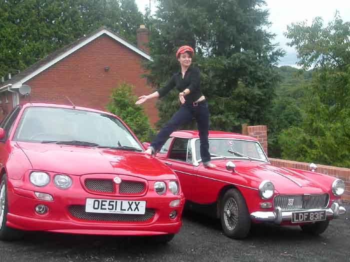 My recently purchased MG ZR with mum's Midget bought in 1977!