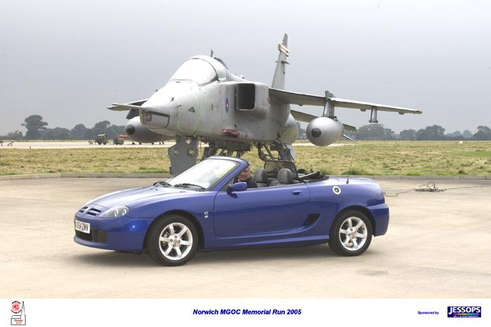 With a Jaguar at RAF Coltishall Sept 2005