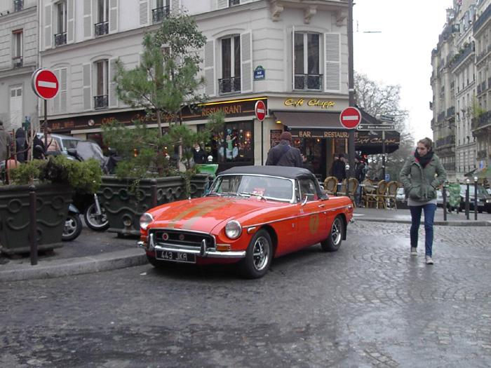 In Dec 2008 I was in Paris, where I took this picture of a beautiful MGB