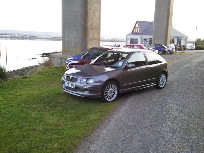This is my MG ZR under Kessock Bridge in Inverness