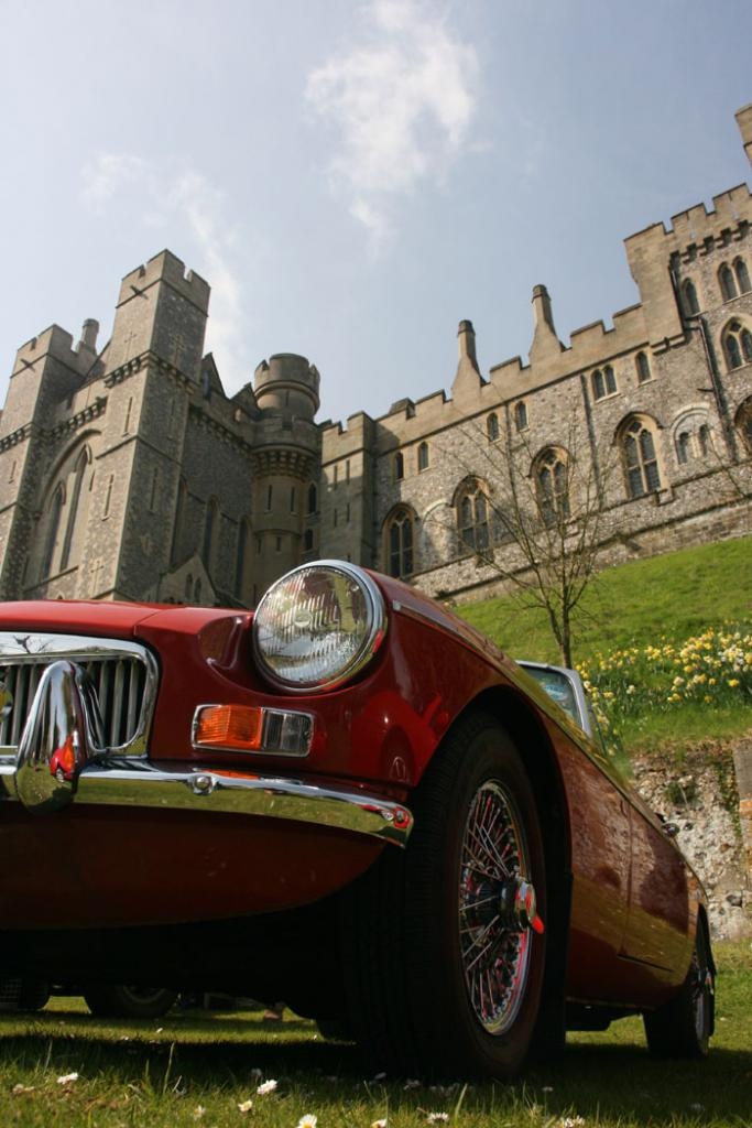 The 2009 Chichester MG Club meeting in Arundel Castle.