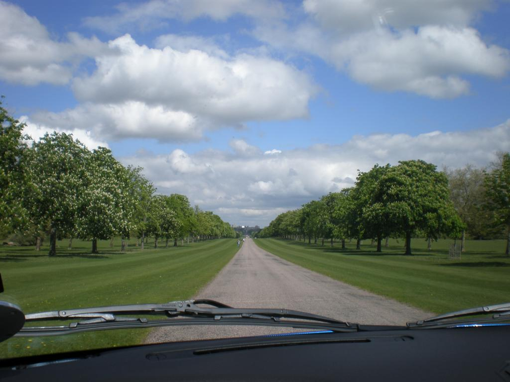 driving down the long walk to windsor