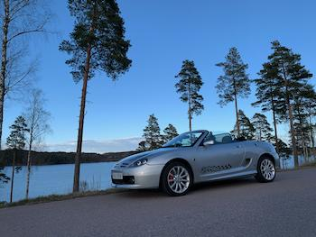 My MGTF at a beautiful setting, Lake Sommen, Tranås Sweden